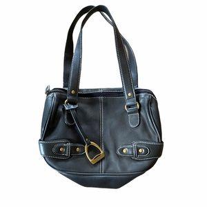 Very Nice Chaps Black Double Strap Shoulder Bag
